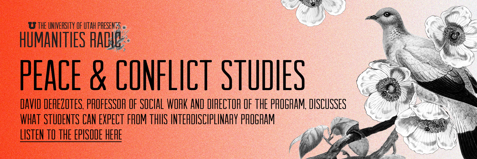 Humanities Radio - Peace and Conflict Studies - Listen to the episode here.
