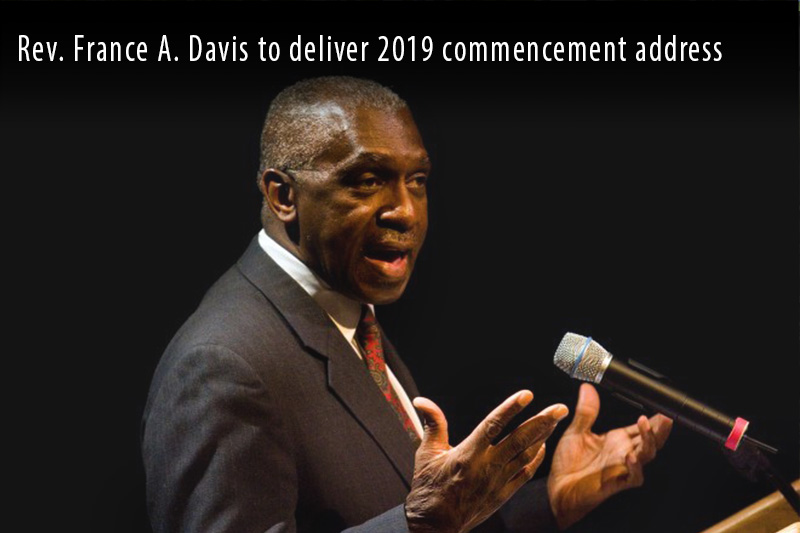 Rev. France A. Davis will speak at commencement