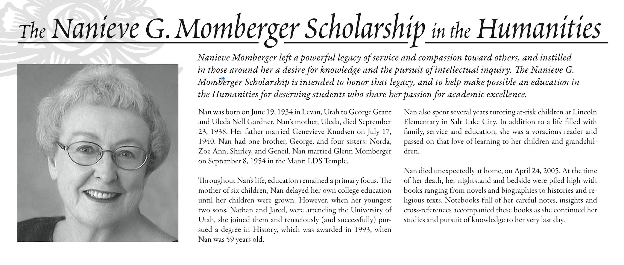 Momberger Scholarship